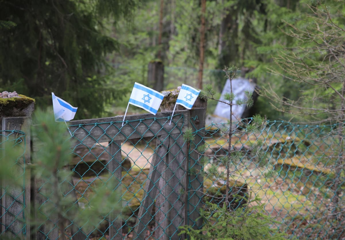 Juutalaisten hautausmaa Haminassa.
