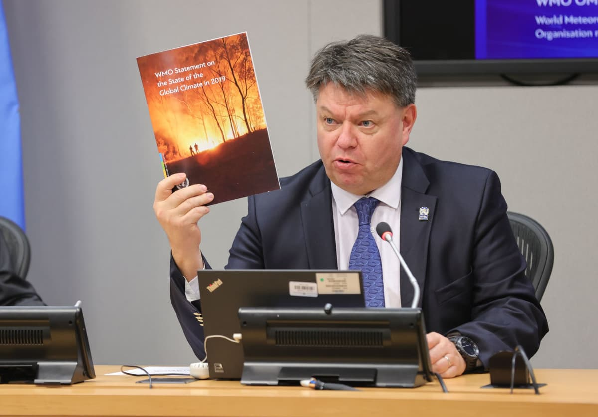 Maailman ilmatieteen järjestön johtaja Petteri Taalas.