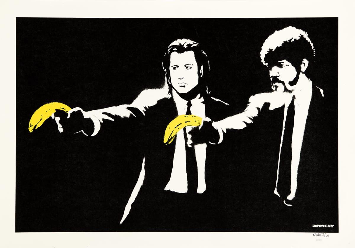 Banksyn teos Pulp Fiction.