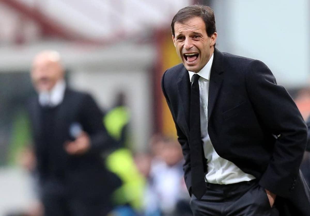 Juventuksen päävalmentaja Massimiliano Allegri.