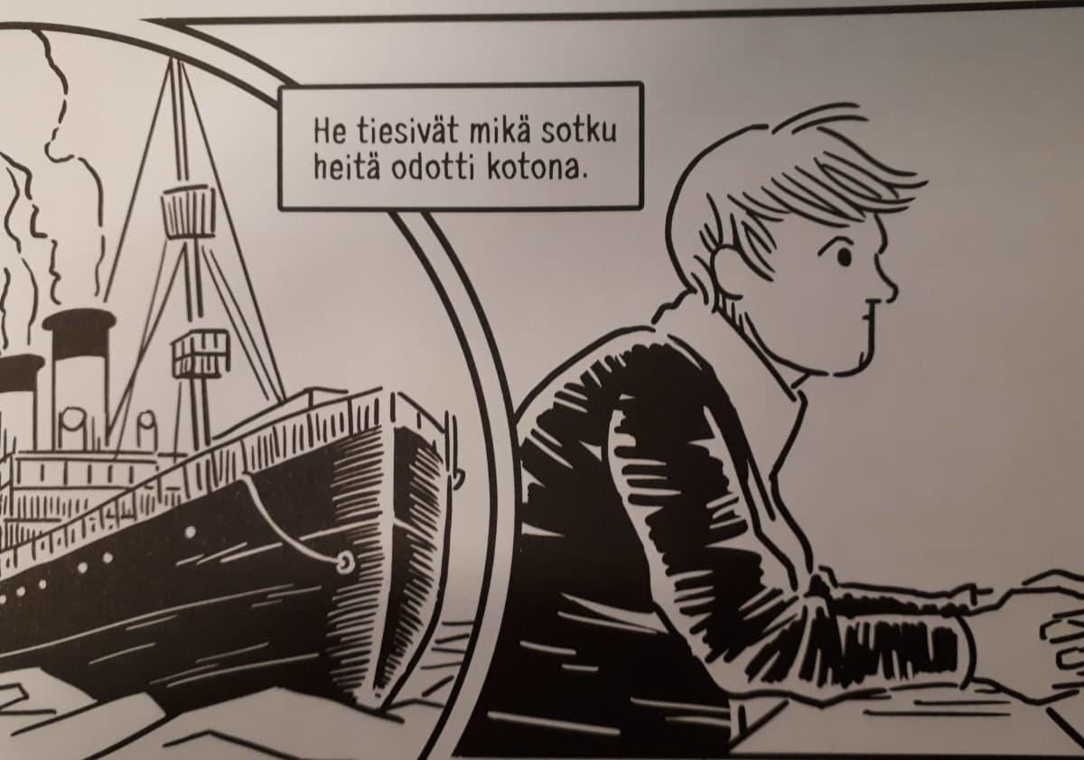Mika Lietzénin sarjakuvakirjasta Jääkärit - Viisi kertomusta.
