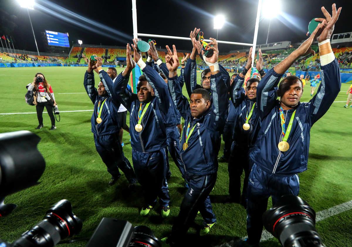 Fidzin rugbymaajoukkue Riossa
