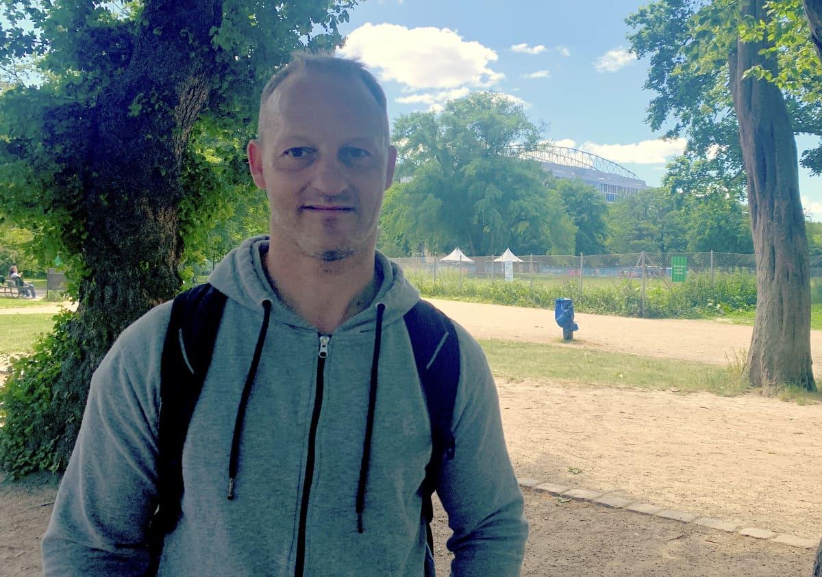 Thomas Flacks, tanskalainen jalkapallofanit 13.6.2021
