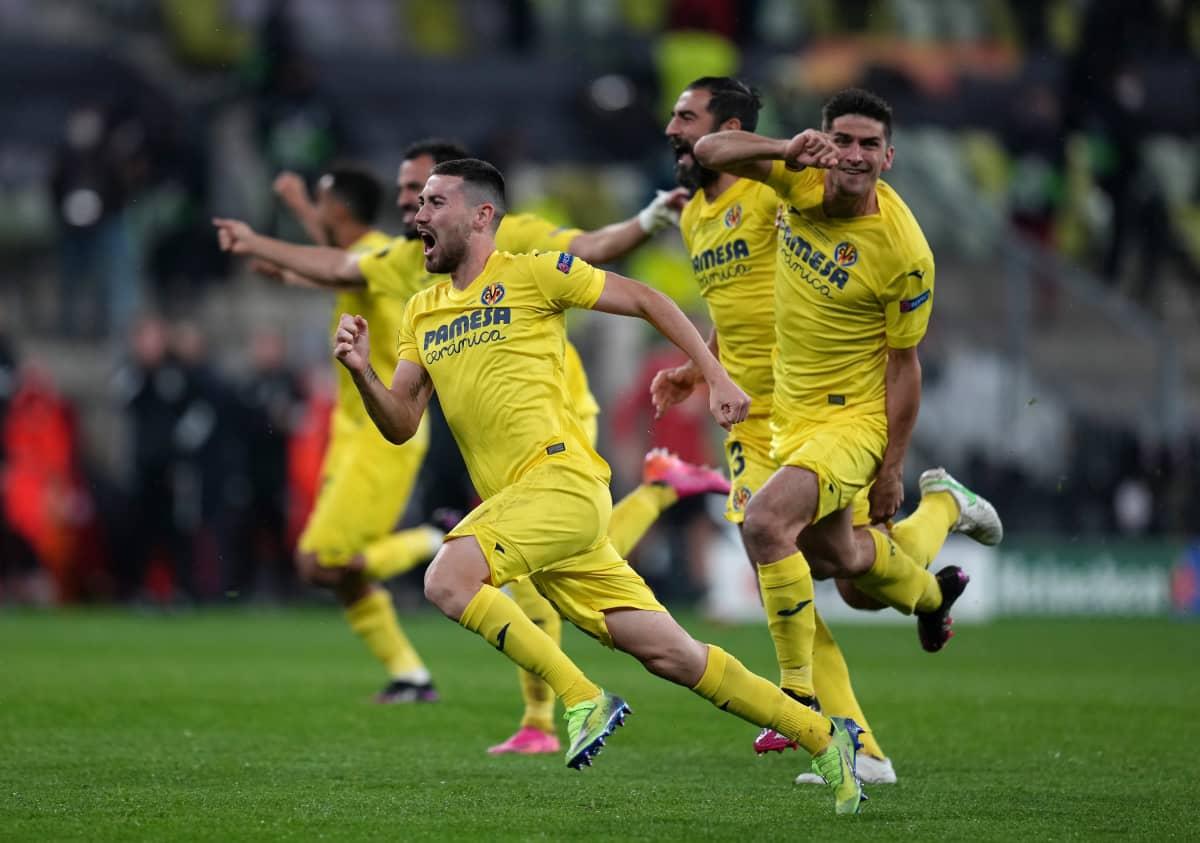 Villarreal juhlii Eurooppa-liigan voittoa.