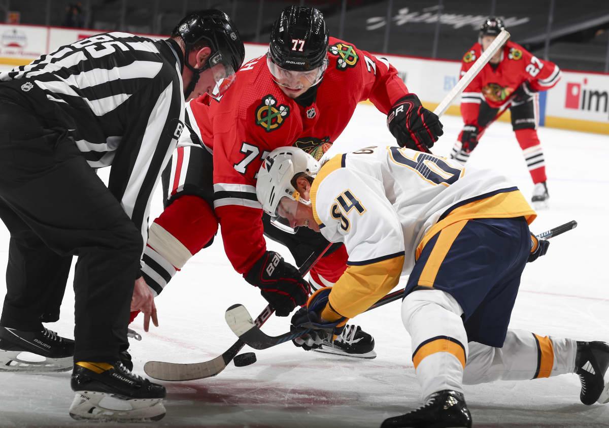 Mikael Granlund aloitustilanteessa NHL:ssä.