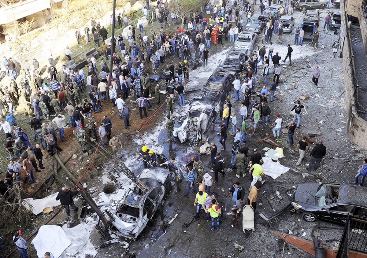 Räjähdyksen jälkiä Beirutissa 19. marraskuuta.