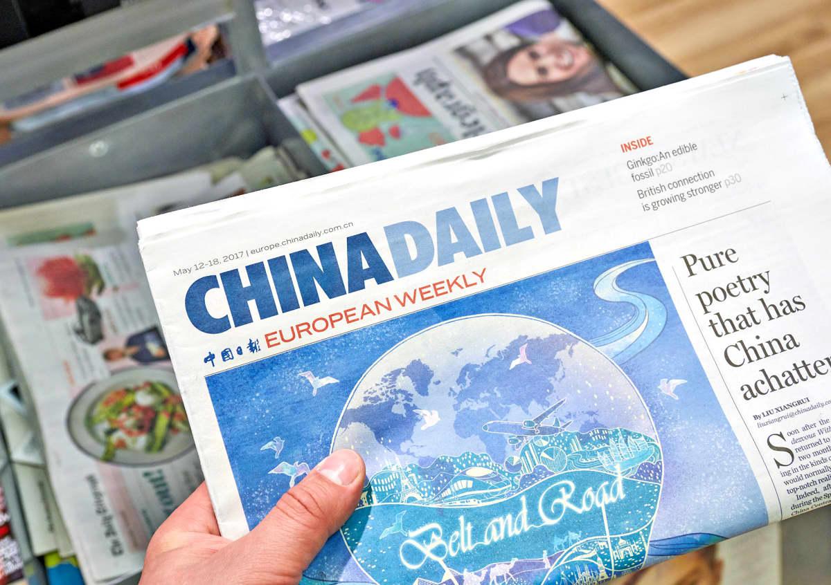 China Daily -sanomalehden eurooppalainen painos.