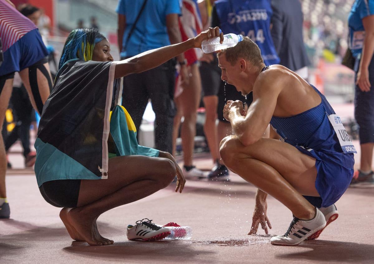 Maicel Uibo ja Shaunae Miller-Uibo voittivat kumpikin MM-hopeaa Dohassa lokakuussa 2019.