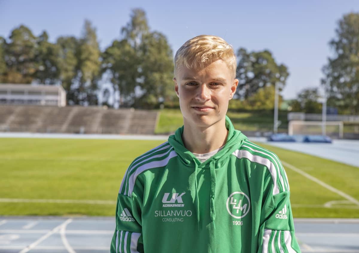 LUM:in yleisurheilija Kasperi Vehmaa.