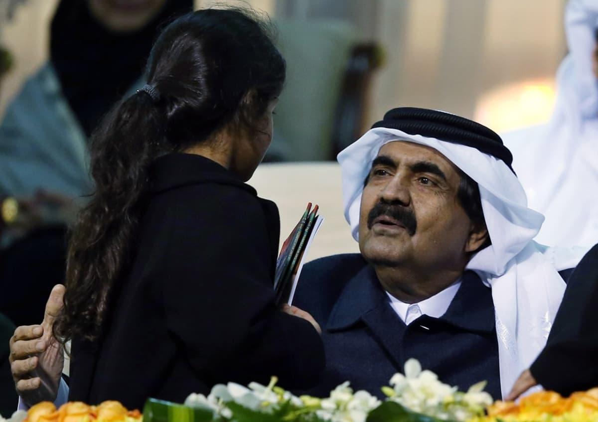 Qatarin entinen emiiri šeikki Hamad bin Khalifa al-Thani.