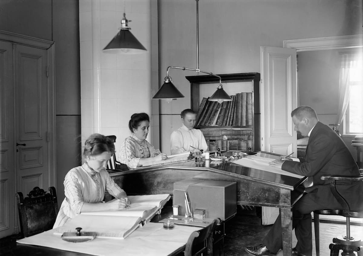 Kuopion lääninhallituksen toimisto vuonna 1911
