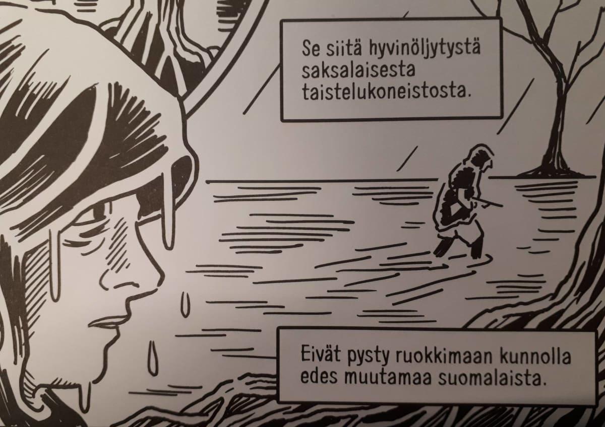 Mika Lietzénin sarjakuvasta Jääkärit - Viisi kertomusta.