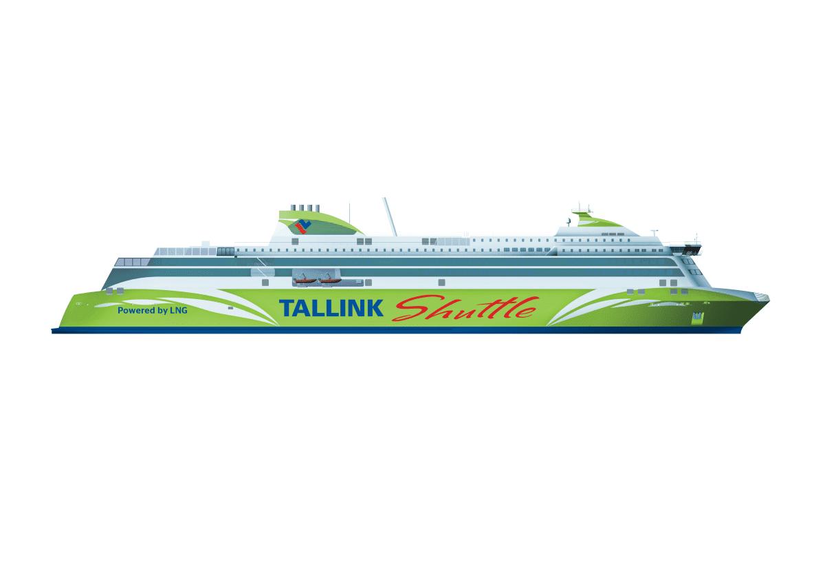 Havainnekuva Tallinkin tilaamasta aluksesta.