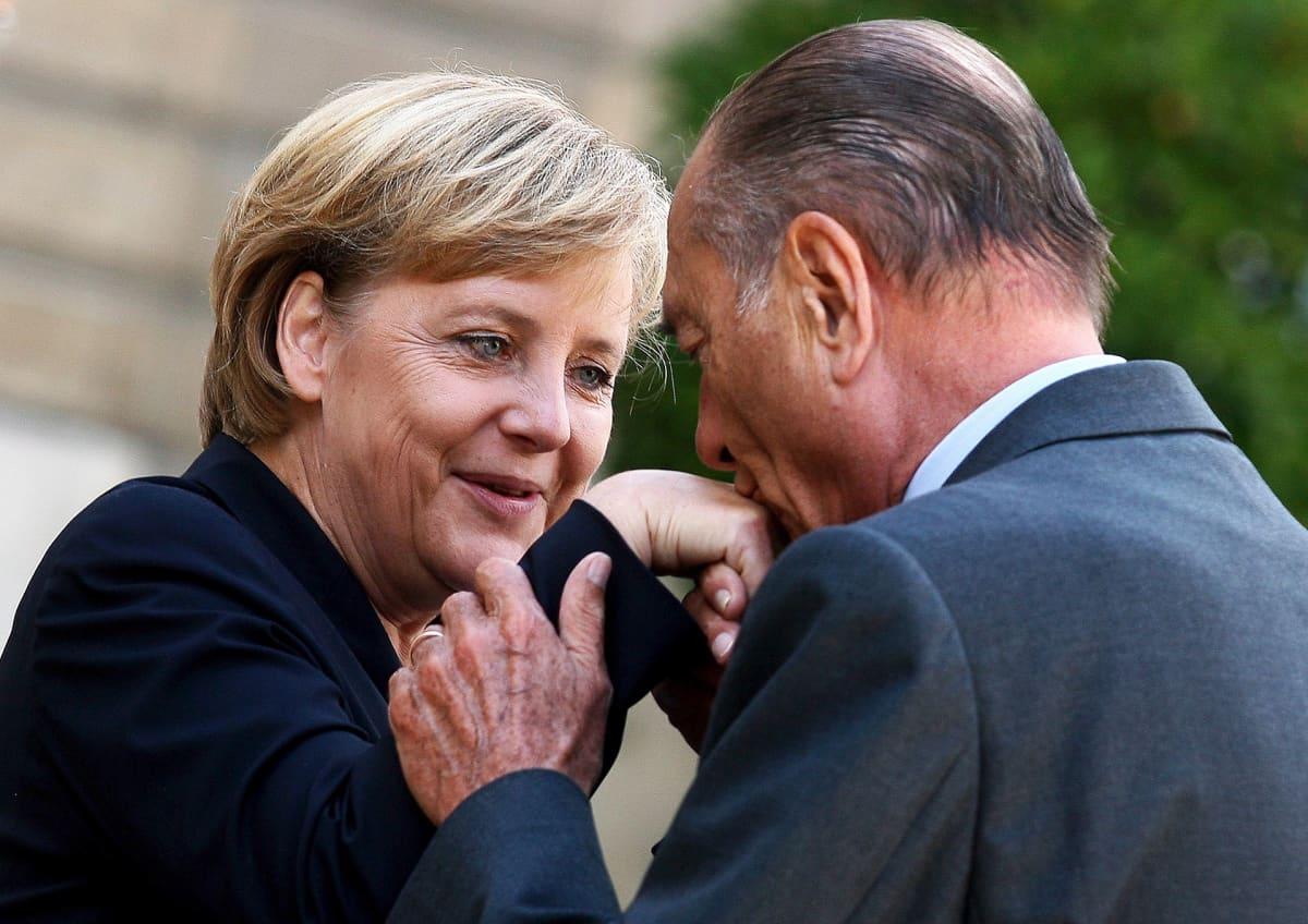 Angela Merkel ja Jacques Cirac elokuussa 2006.