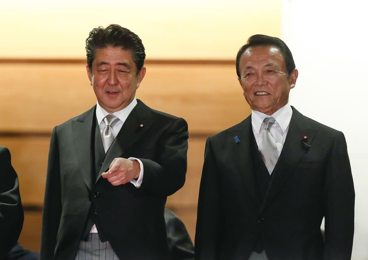 Japanin pääministeri ja varapääministeri