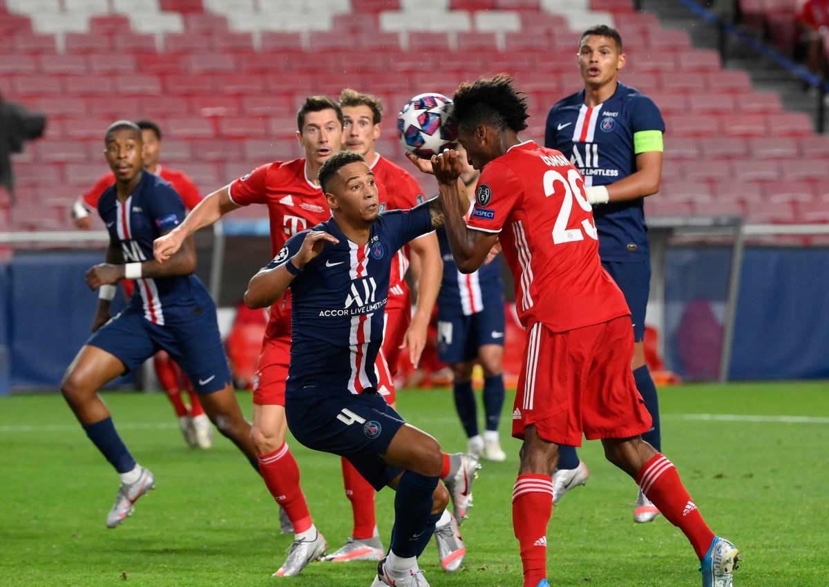 Kingsley Coman puski Bayern Münchenin avausosuman Mestarien liigan finaalissa.