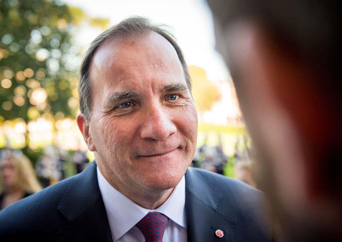 Sosiaalidemokraattien puheenjohtaja Stefan Löfven.