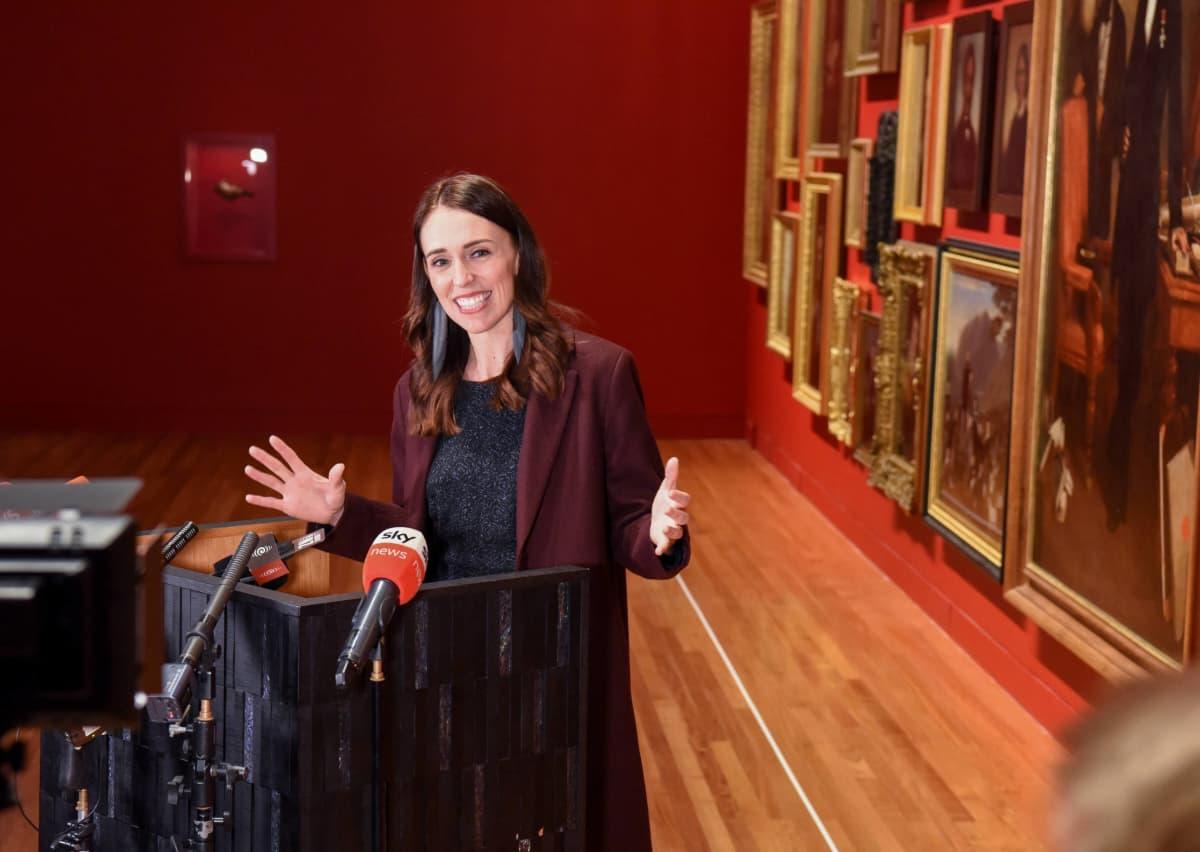 Jacinda Ardern Uuden-Seelannin kansallismuseossa