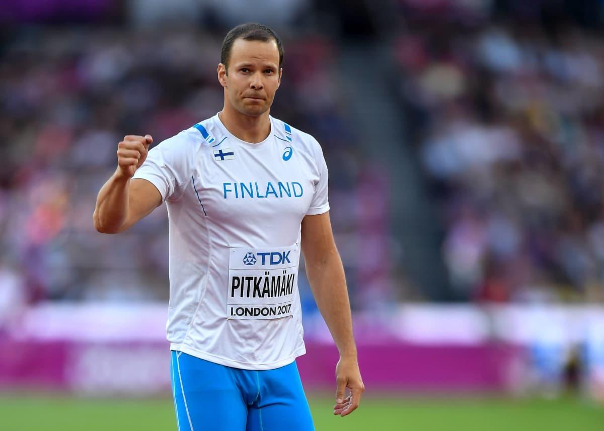 Tero Pitkämäki on kilpaillut MM-kisoissa seitsemästi ja ollut viidesti paras suomalainen.