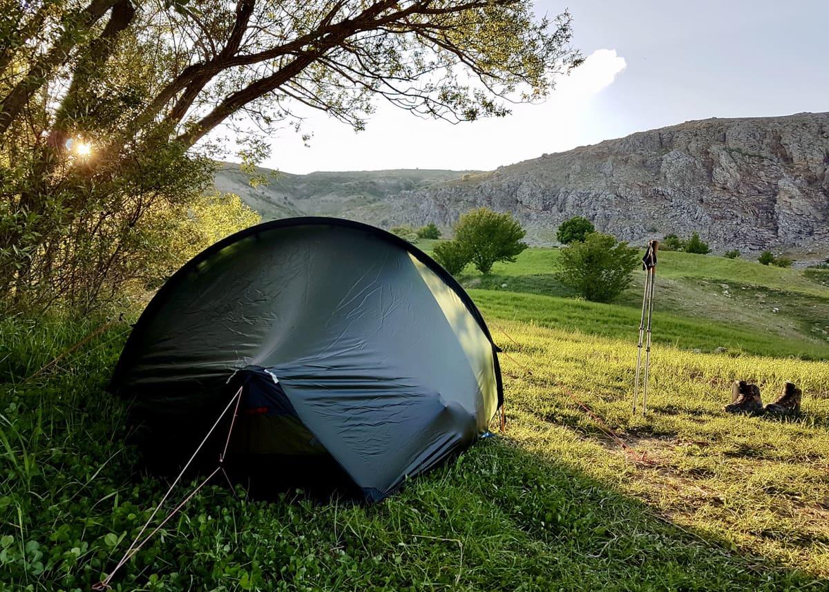 Jari Virmanin teltta.