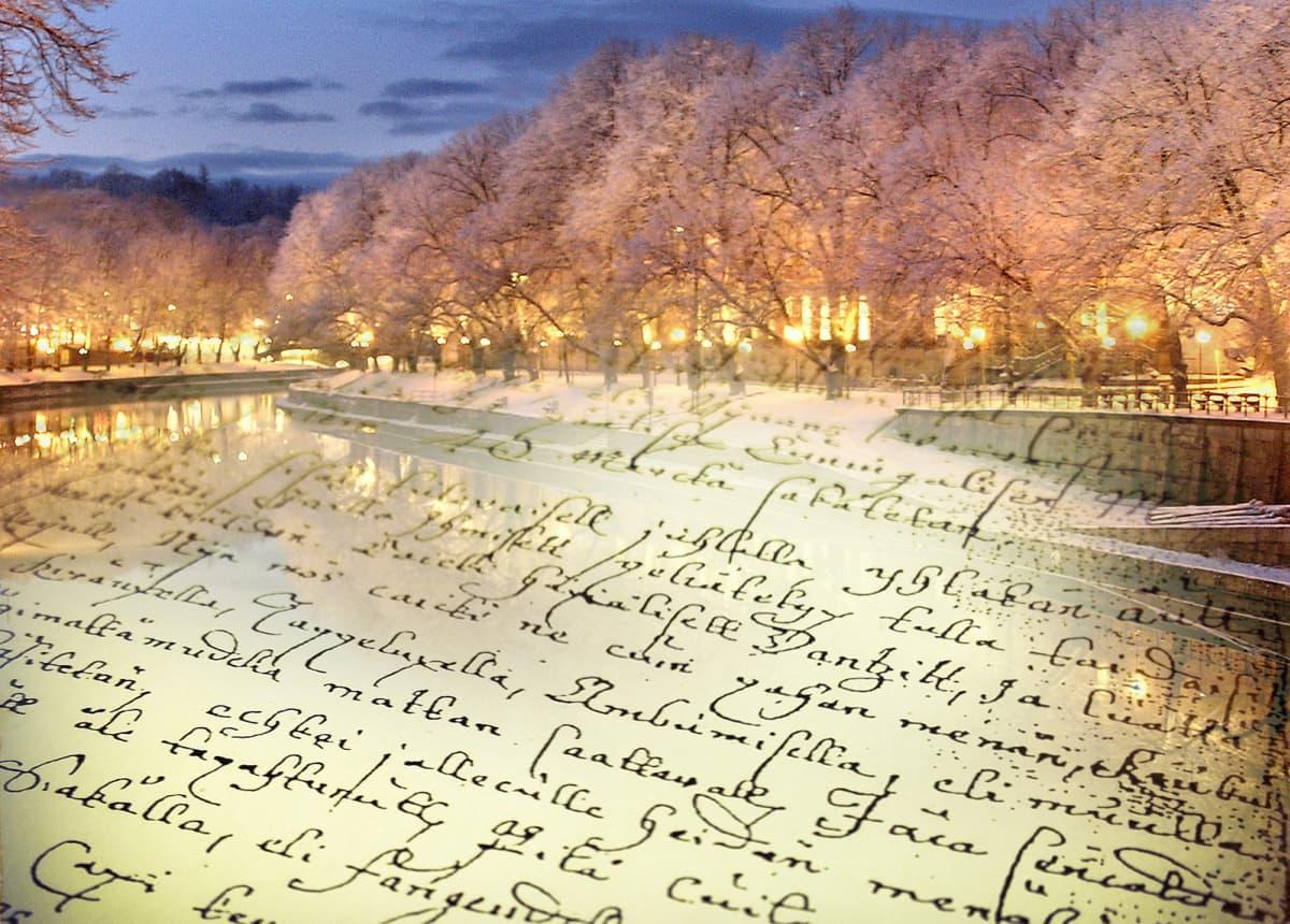 1770-luvun Porin joulurauhan julistustekstiä.