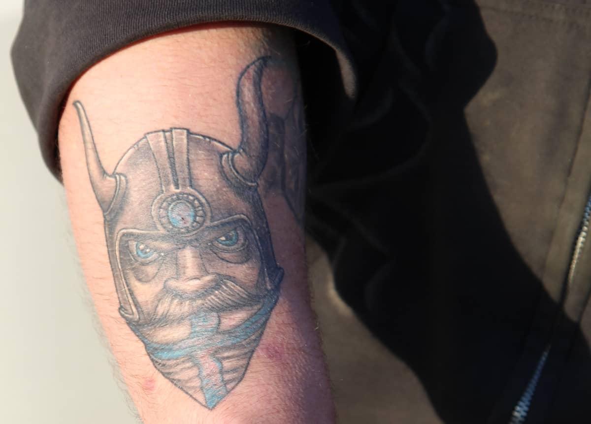 Mika Rannan Odin tatuointi