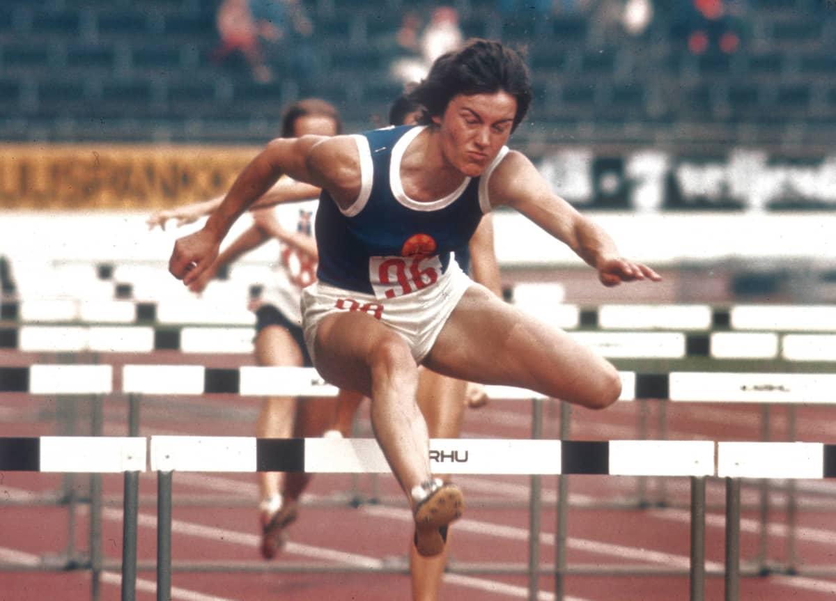 Karin Balzer tositoimissa vuonna 1971.