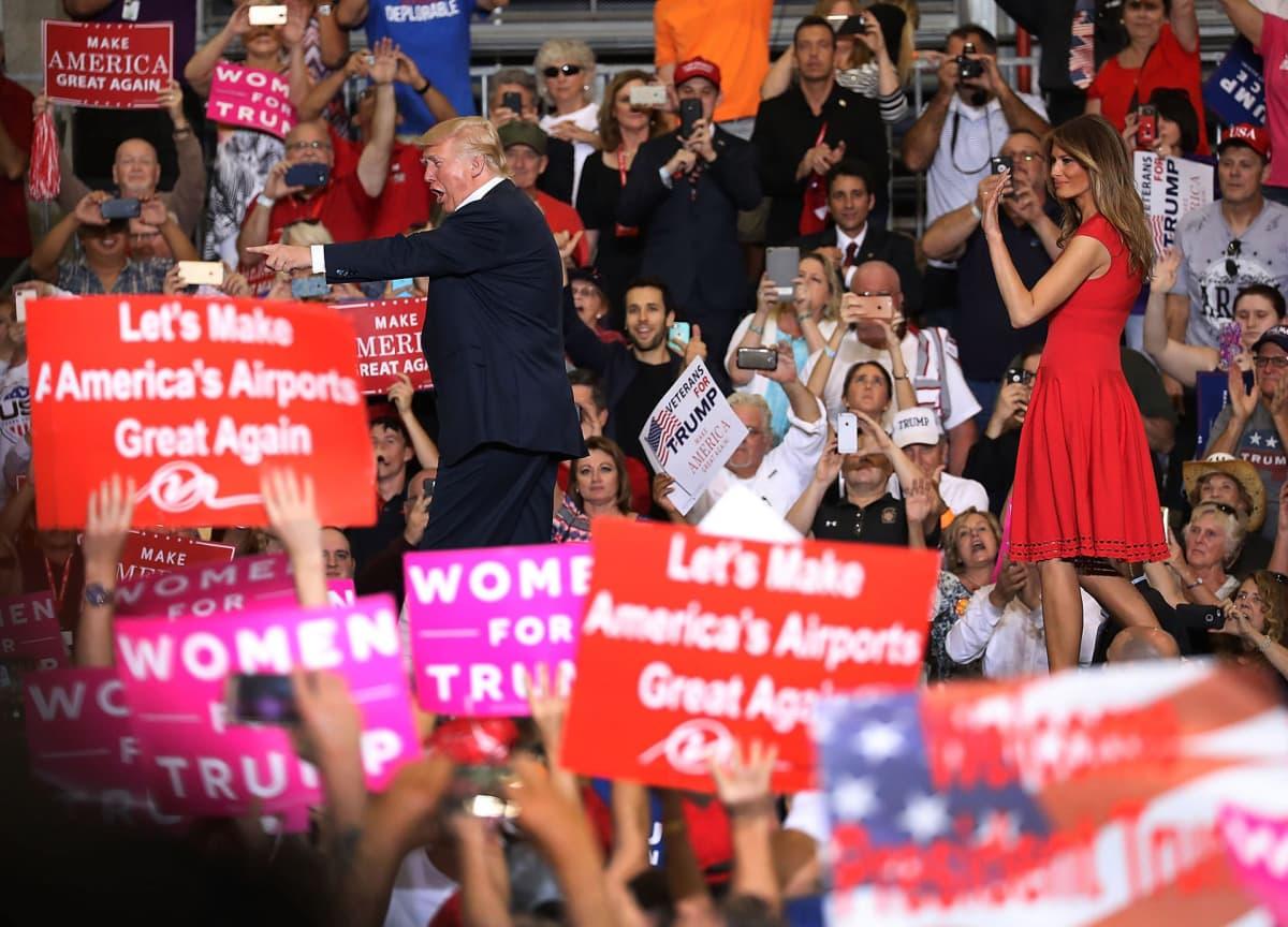 Donald Trump Floridassa 18. helmikuuta 2017.
