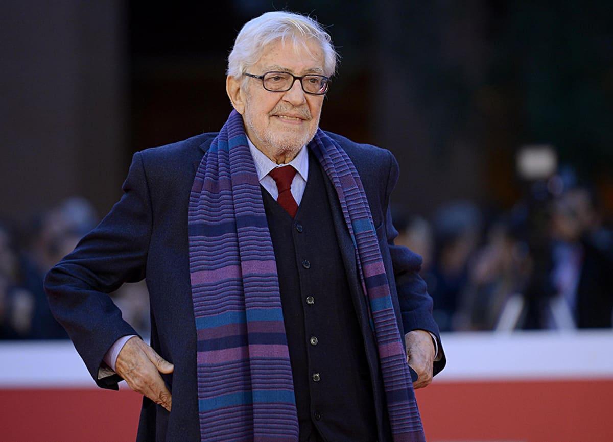 Ettore Scola saapuu ensi-iltaan Rooman elokuvajuhlilla lokakuussa 2015.