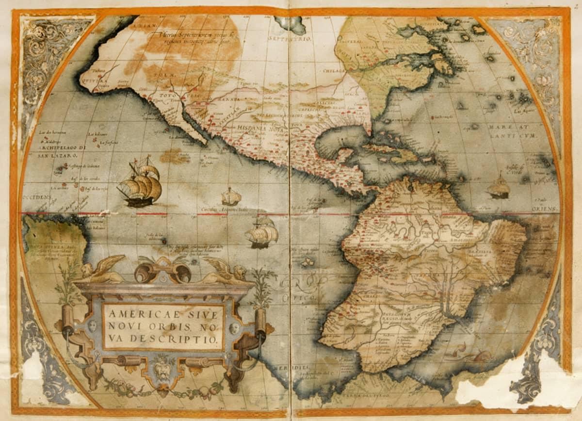 Alankomaalainen Abraham Ortelius (1527-1598) valmisti 1570 Antwerpenissä kartaston Theatrum Orbis Terrarum, jota on kutsuttu ensimmäiseksi uudenaikaiseksi kartastoksi maailmassa.