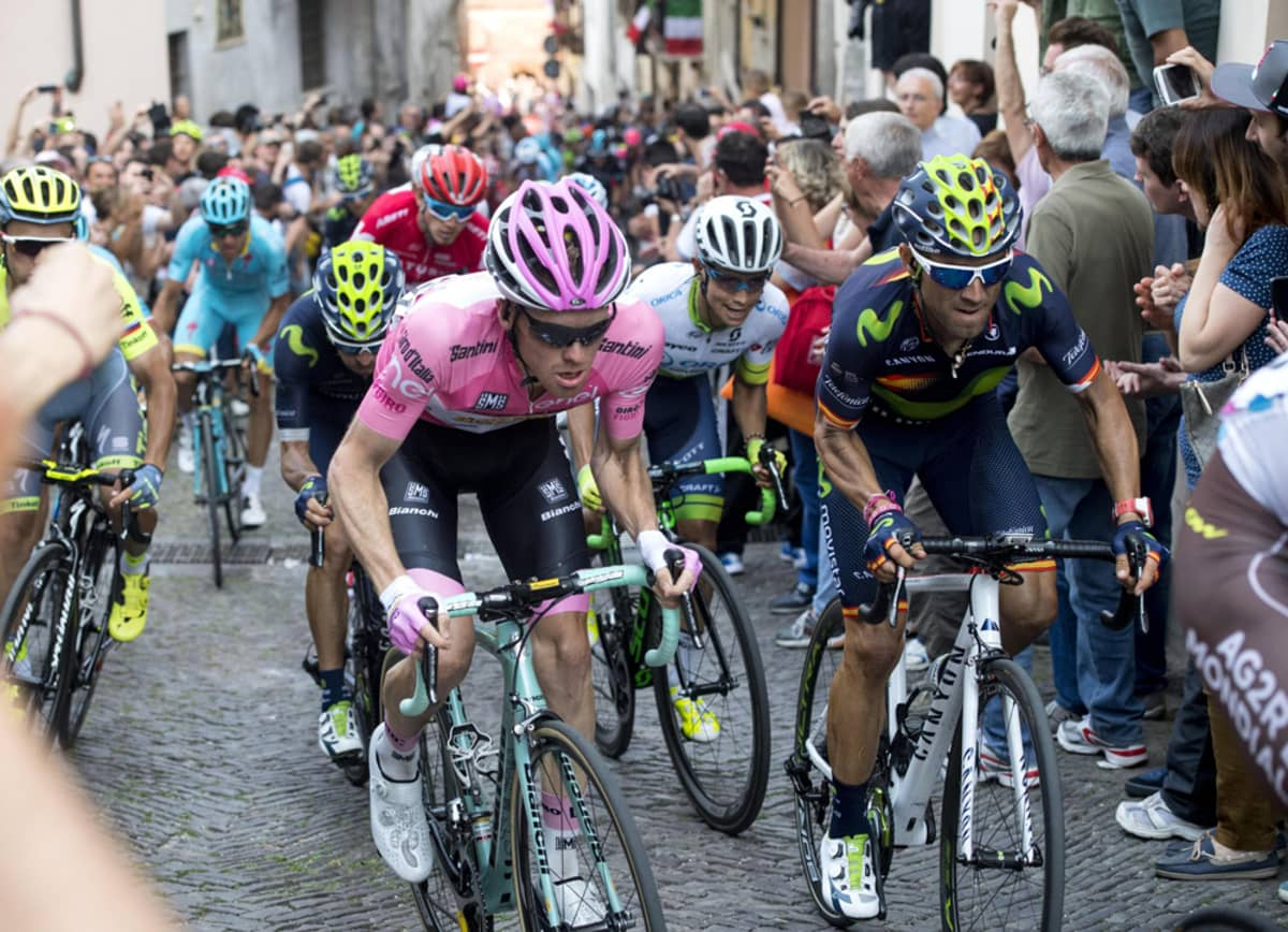 Steven Kruijswijk ja Esteban Chaves Italian ympäriajossa.