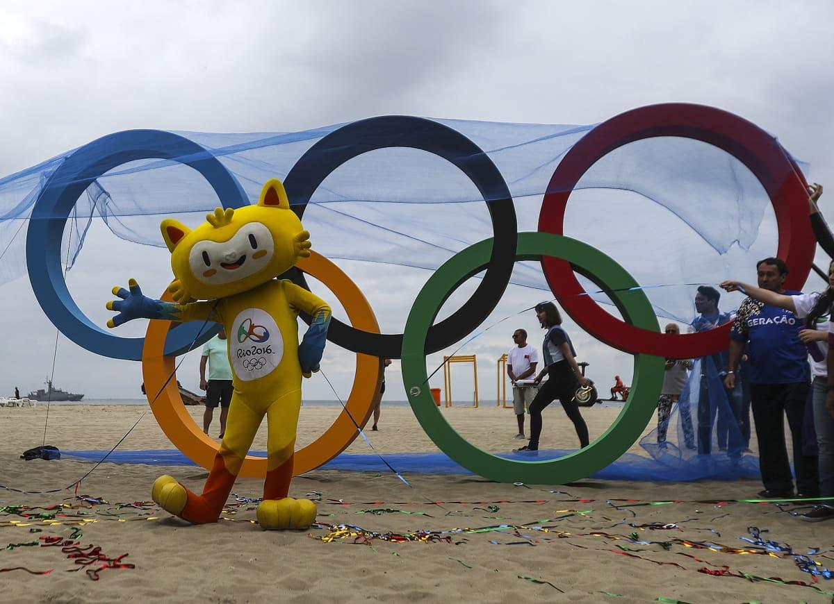 Olympiarenkaat Riossa.