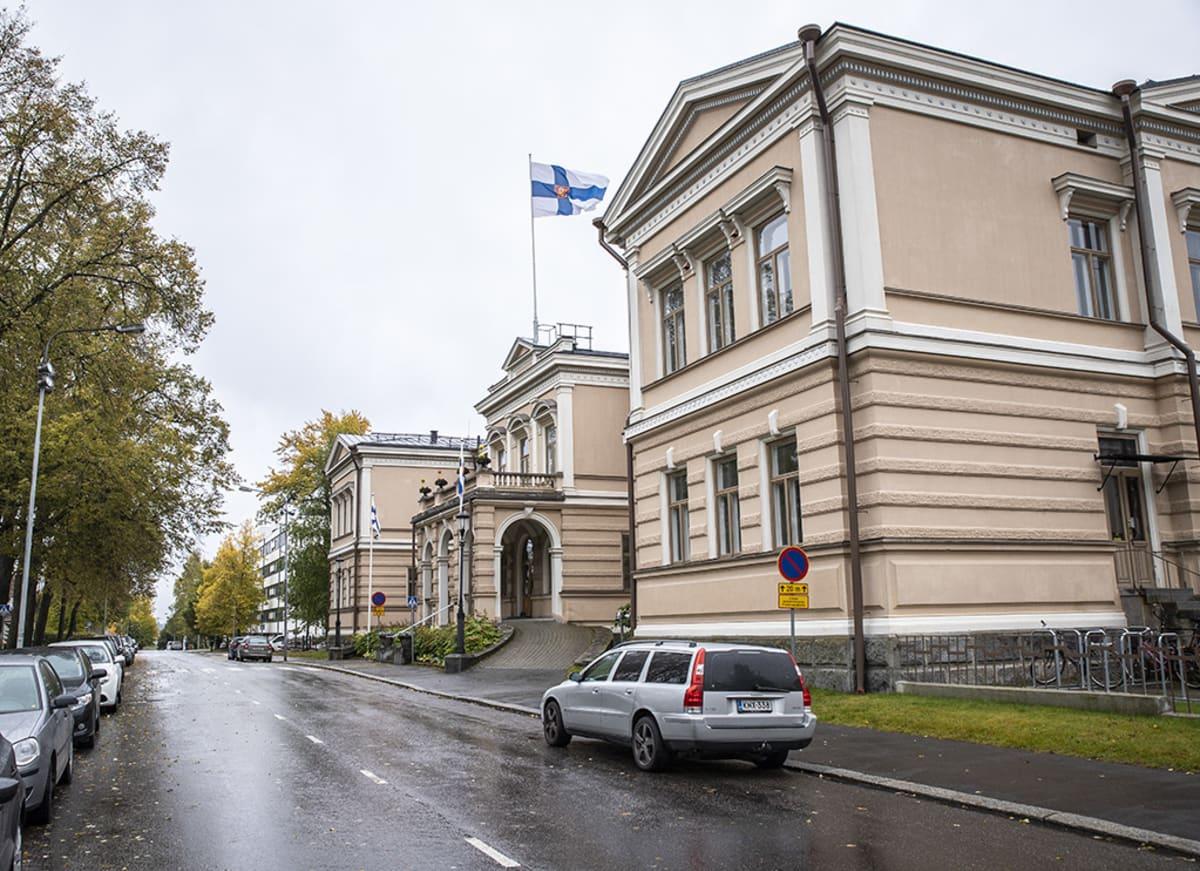 Lääninhallituksen rakennus Kuopiossa.