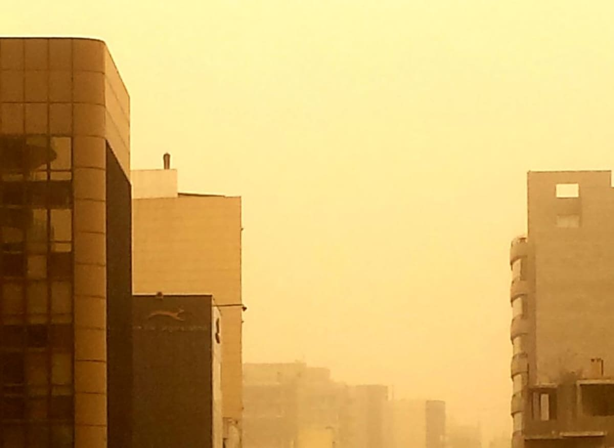 Hiekkamyrsky Beirutissa Libanonissa 8.9.2015.