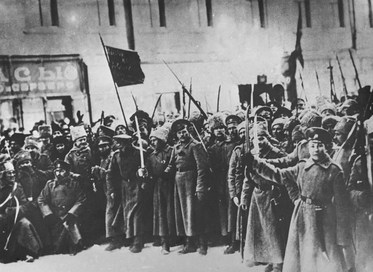 Maaliskuun vallankumous tapahtumat Venäjällä.