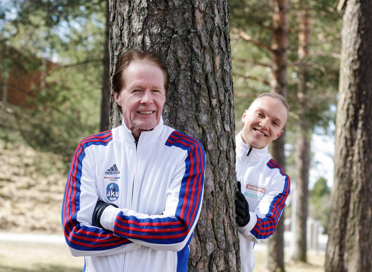 Antti Mero (senior) ja valmennettavansa Viljami Kaasalainen.