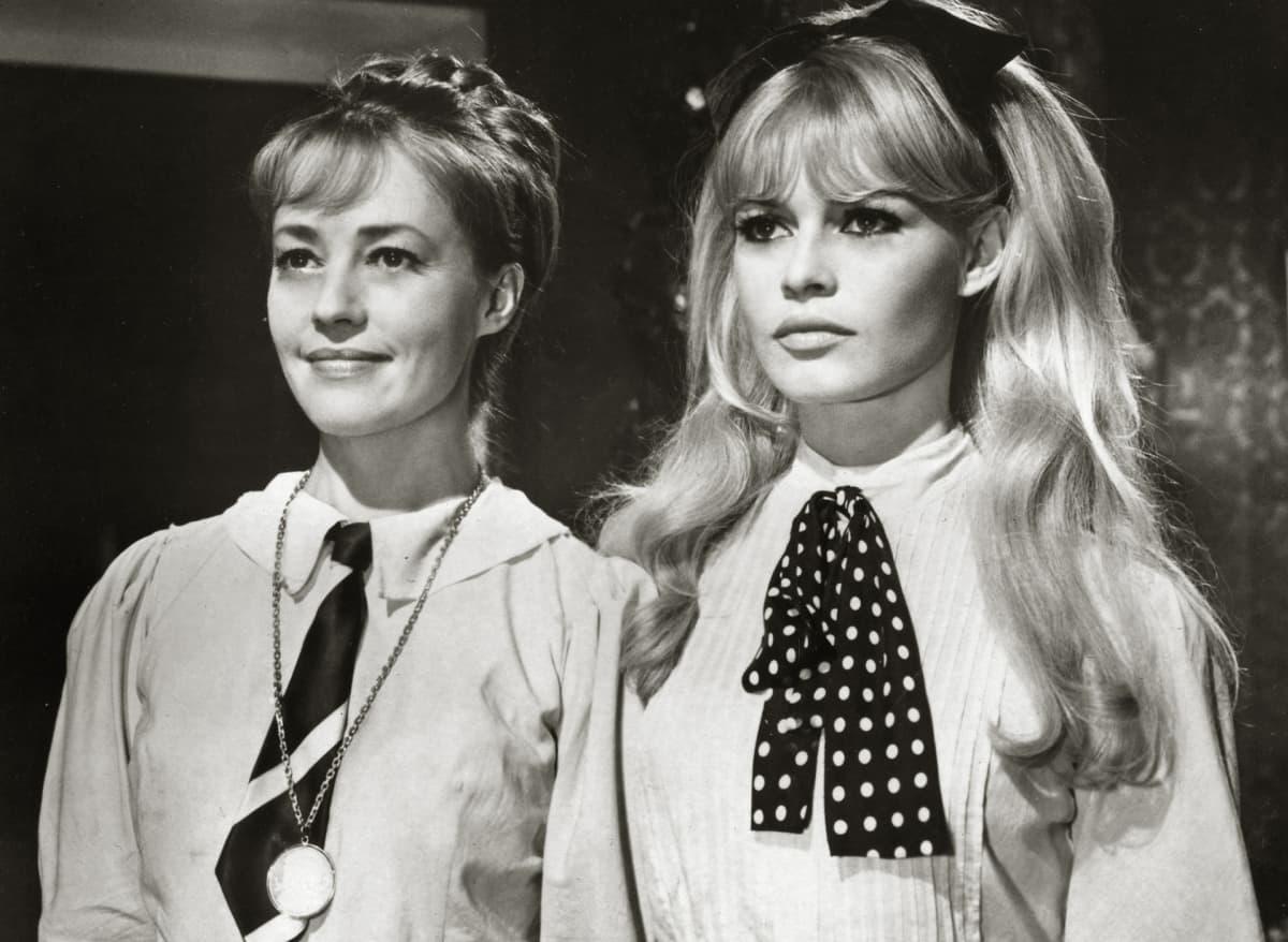 Jeanne Moreau ja Brigitte Bardot Viva Mariassa vuonna 1965.