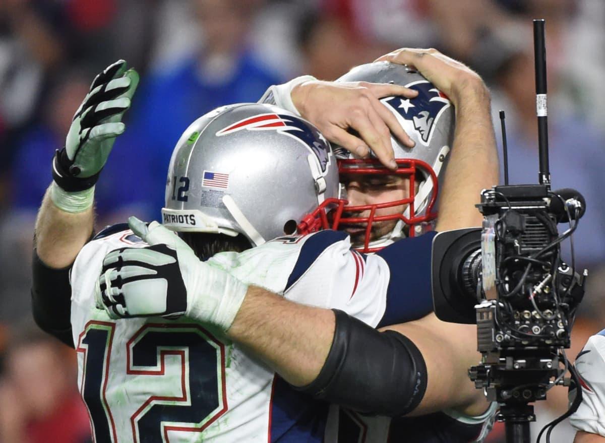 Tom Brady juhlii Super Bowlin voittoa.