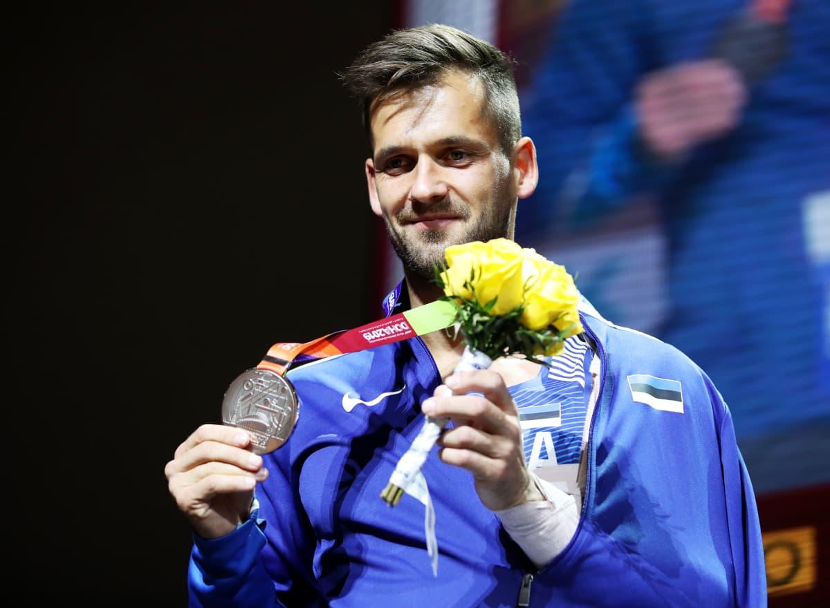Magnus Kirt, palkintojenjako, MM2019 Doha