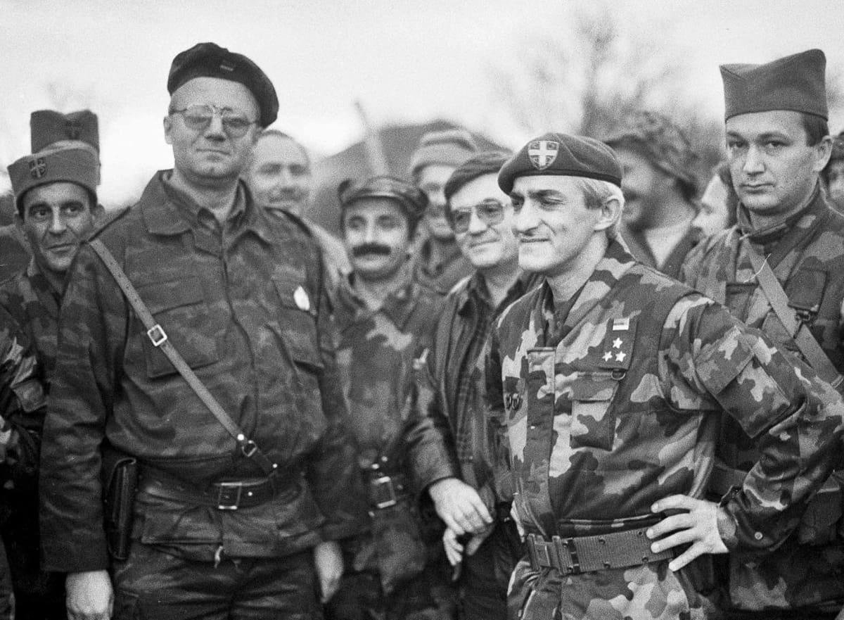 seselj ja serbitaistelijoita kroatiassa 1991