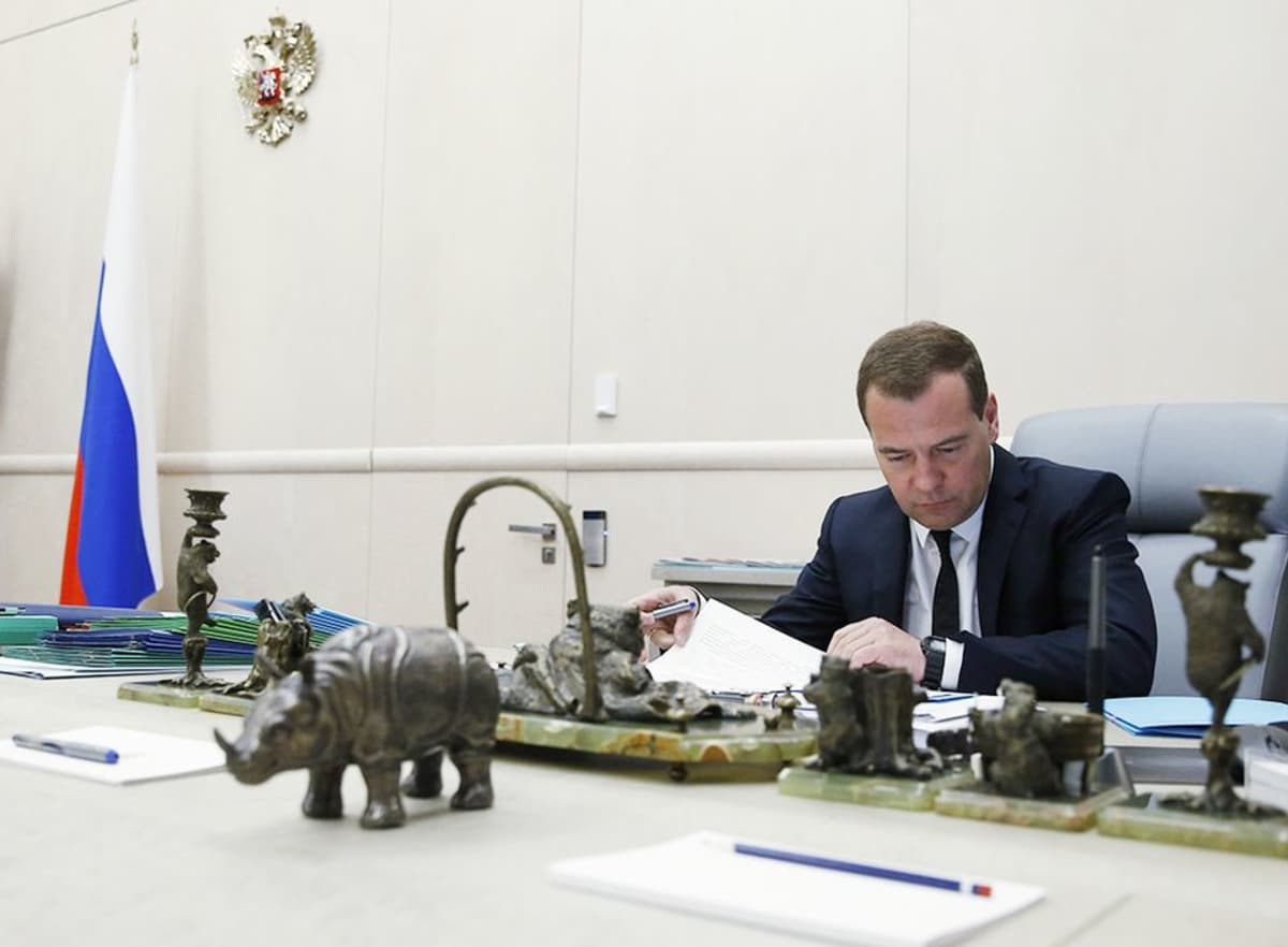 Venäjän pääministeri Dimitri Medvedev 21. toukokuuta.