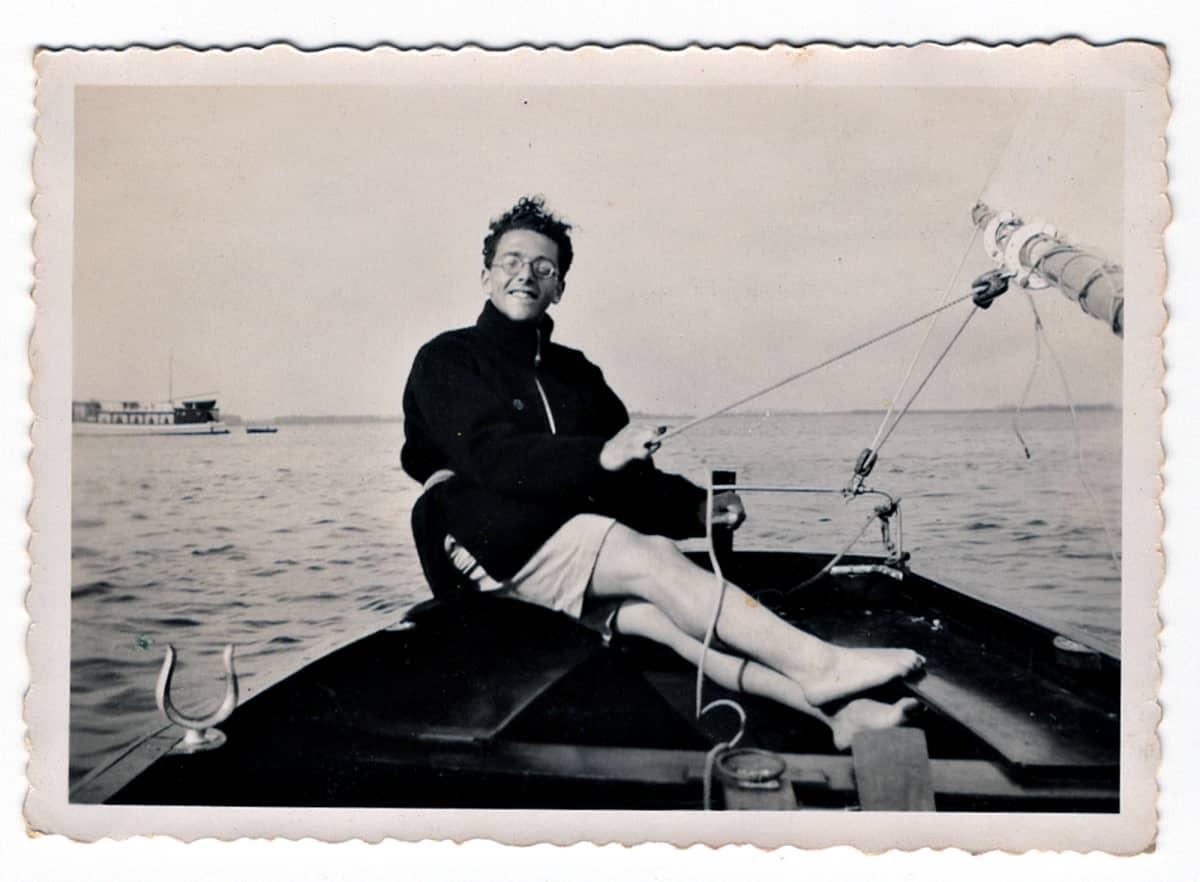 Eddy de Wind, lääketieteenopiskelijana purjehtimassa.