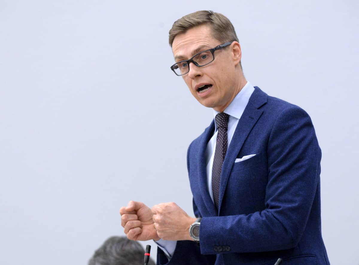 Valtiovarainministeri, kokoomuksen puheenjohtaja Alexander Stubb