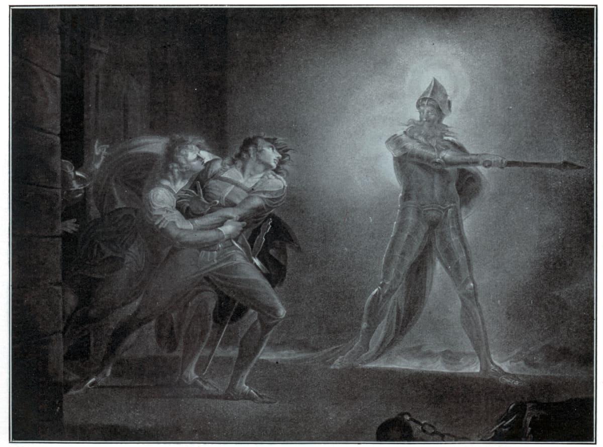Hamlet seuraa isänsä haamua.