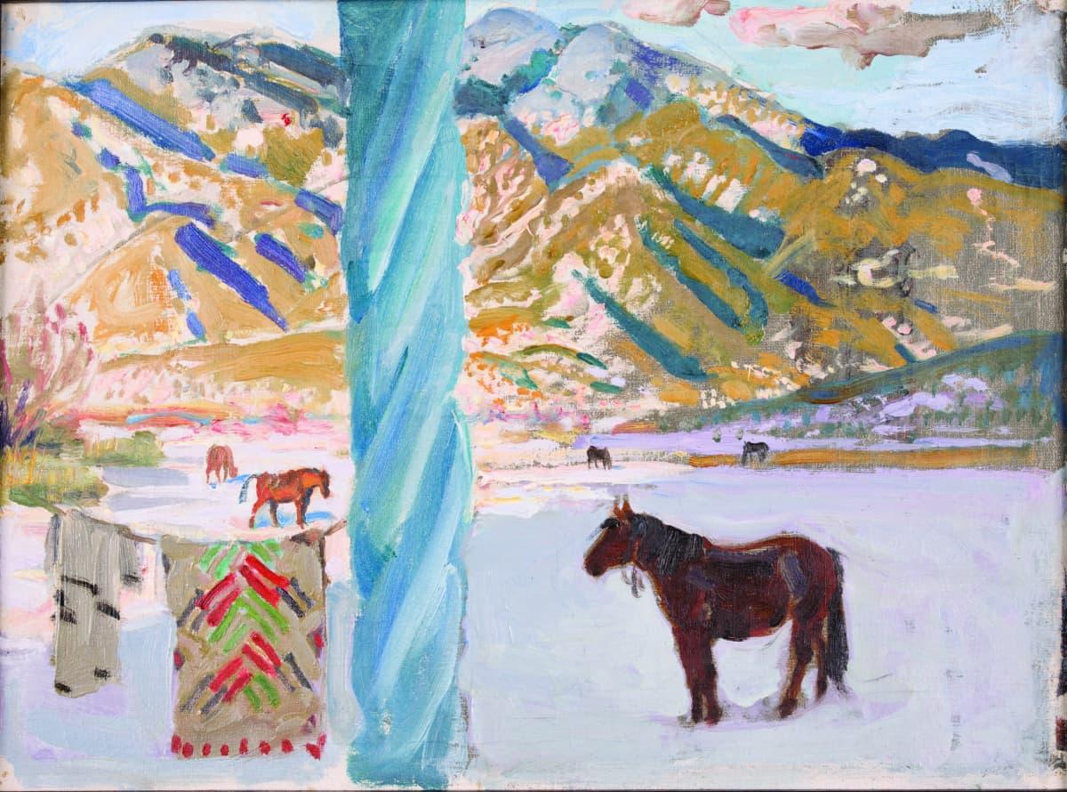 Akseli Gallen-Kallela, Näkymä Taos-vuorilta, 1924–1925