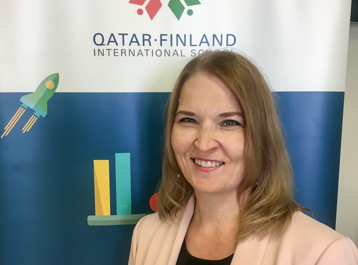 Apulaisrehtori Hanne Patomäki on Dohassa jo viidettä lukuvuotta.