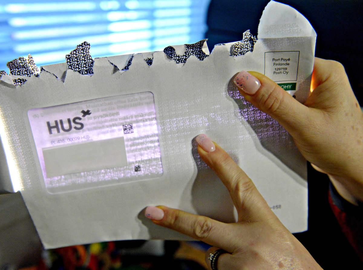 HUS-kirjekuori kuvattuna Vantaalla 11. lokakuuta 2019.
