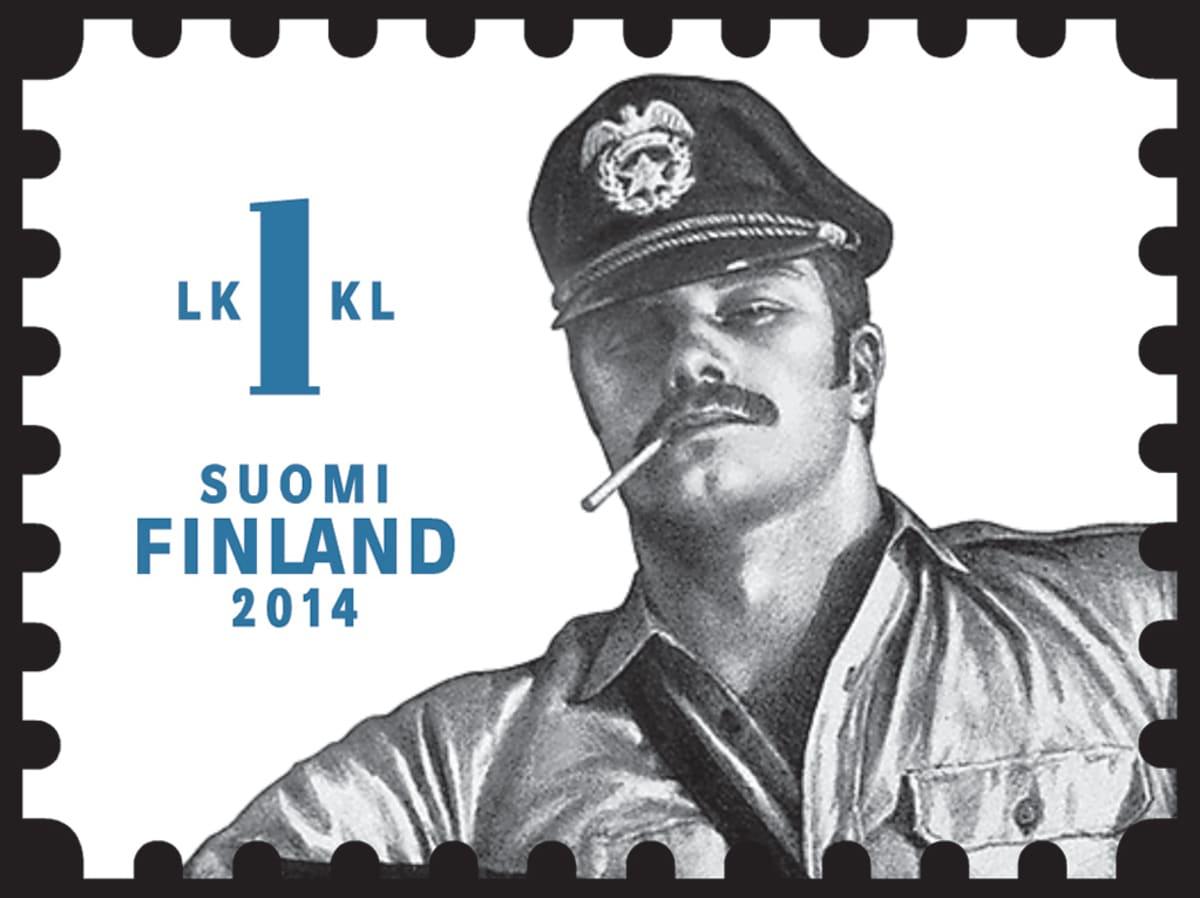 Tom of Finland -postimerkki.
