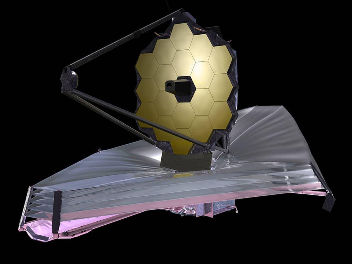 Havainnekuva JWST-teleskoopista