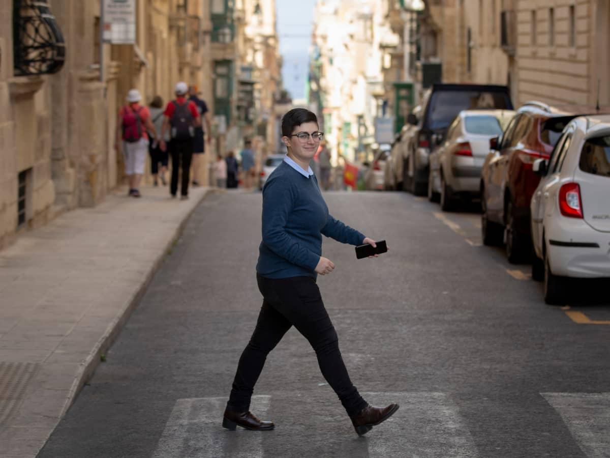 Maltan nuorisoneuvoston pääsihteeri Chiara Vassallo.